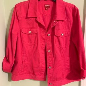Chaps Hot Pink Denim Jacket